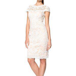 Tadashi Shoji Embroidery Tulle Cap Sleeve Dress